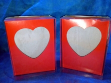 Caixa formato coração 250gr