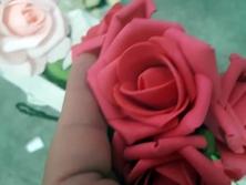 FA008 -Flores artificiais, confeccionada em papel e Eva com tule. Lindas cores!