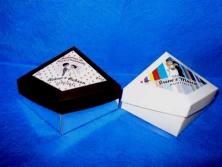 Cod. cx029 - Caixa prisma p/ dois bombom c/ adesivo