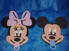 Cod.EN021 - Mickey e Minnie Baby Rosto