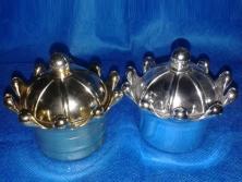 Cod. LE055 - Coroa Acrílica Dourada e Prata
